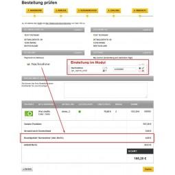 Bestellseite mit Zahlgebühr Nachnahme (4€ Nachnahmegebühr)