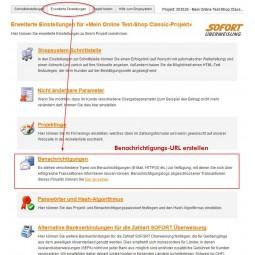 Sofortbanking, Benachrichtigungs-URL erstellen