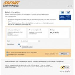 Sofortüberweisung - einfach sicher zahlen Login
