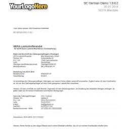 SEPA Lastschrift, Lastschriftmandat für die Kunden, pdf-Anhang