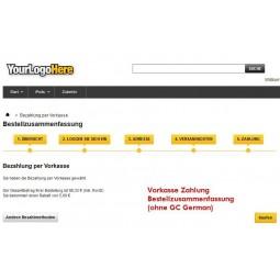 Vorkasse Zahlung / Bestellzusammenfassung PrestaShop original