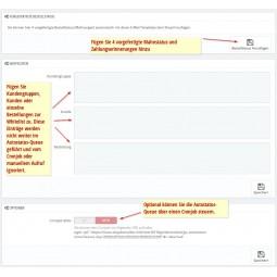 Autostatus für PrestaShop, Konfiguration Whitelist, Mahnstatus und Zahlungserinnerungen ergänzen, Cronjob