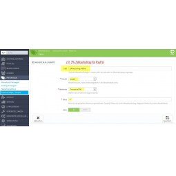 Presta Plus Einstellungen PayPal Zahlaufschlag PrestaShop