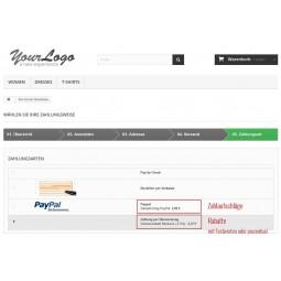 Presta Plus Zahlaufschlag Bestellseite Zahlungsmethoden