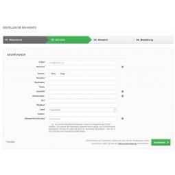 Presta Plus optimiertes Registrierungsformular
