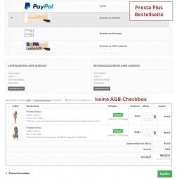 Presta Plus Bestellseite mit Button-Lösung / ohne AGB-/Widerrufsbelehrung Checkbox als Pflichtfeld