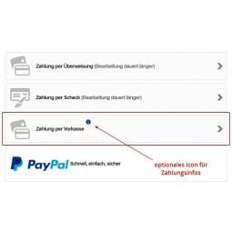 Vorkasse, Bestellseite, Zahlungsauswahl mit Modul EU-Rechtssicherheit bei PrestaShop 1.6.1.x
