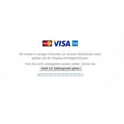 Ingenico Kreditkarte, Zahlarten Weiterleitung im Front Office (hier Kreditkarte)