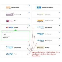 Ingenico Kreditkarte, Zahlungsmodul für PrestaShop 1.6.1.x