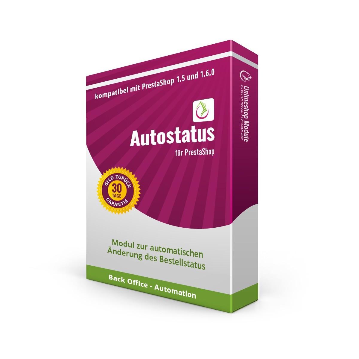 Autostatus für PrestaShop 1.5/1.6.0, Modul zur automatischen Änderung des Bestellstatus