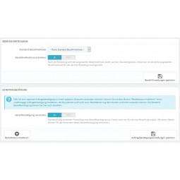 Presta Plus Bezahl-Einstellungen Standard-Bezahlmethode, Auftragsbestätigung-Status mit E-Mail-Vorlage