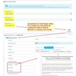 Autostatus E-Mails bearbeiten, Mailvorlagen übersetzen mit PrestaShop