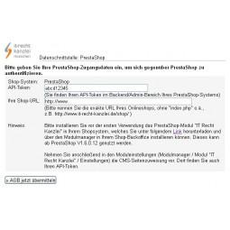 IT-Recht-Kanzlei - PrestaShop 1.7 - Abmahnsicherheit Rechtstexte