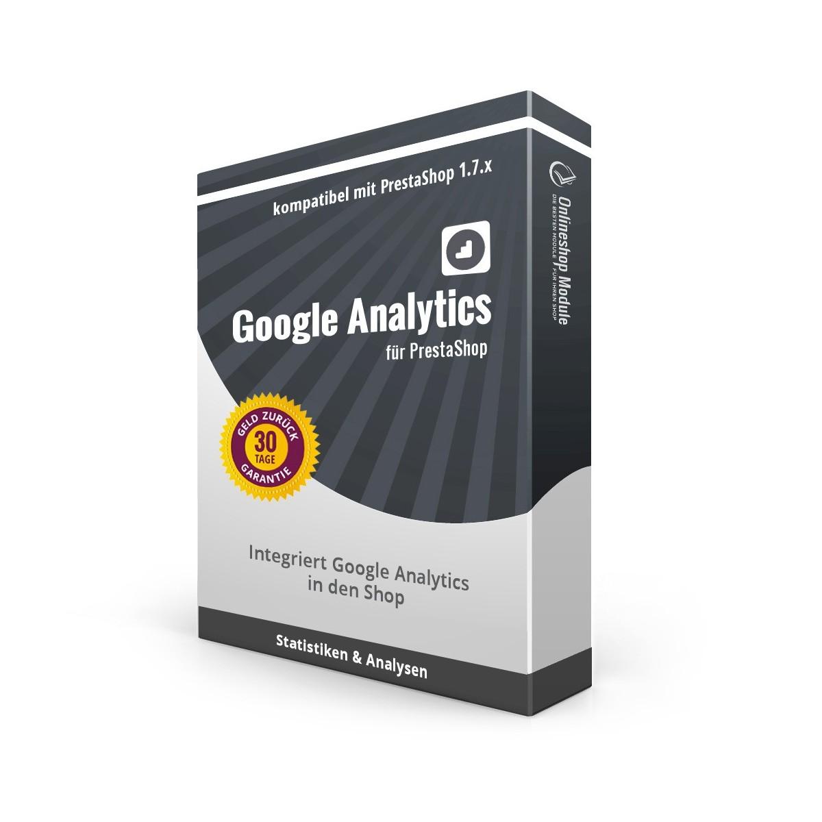 Google Analytics für PrestaShop 1.7 Produktbox