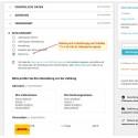 Rechnung, Zahlungsmodul PS1.7, Liste Zahlungsarten