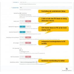 SEPA Lastschrift, PrestaShop 1.7.x - Einstellungen