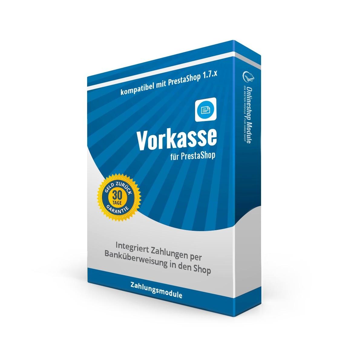 Vorkasse, Zahlungsmodul PS1.7.x