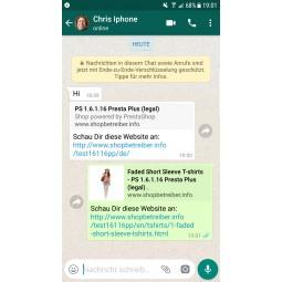 Whatsapp Share Button für PrestaShop 1.6 - Whatsapp Chatverlauf