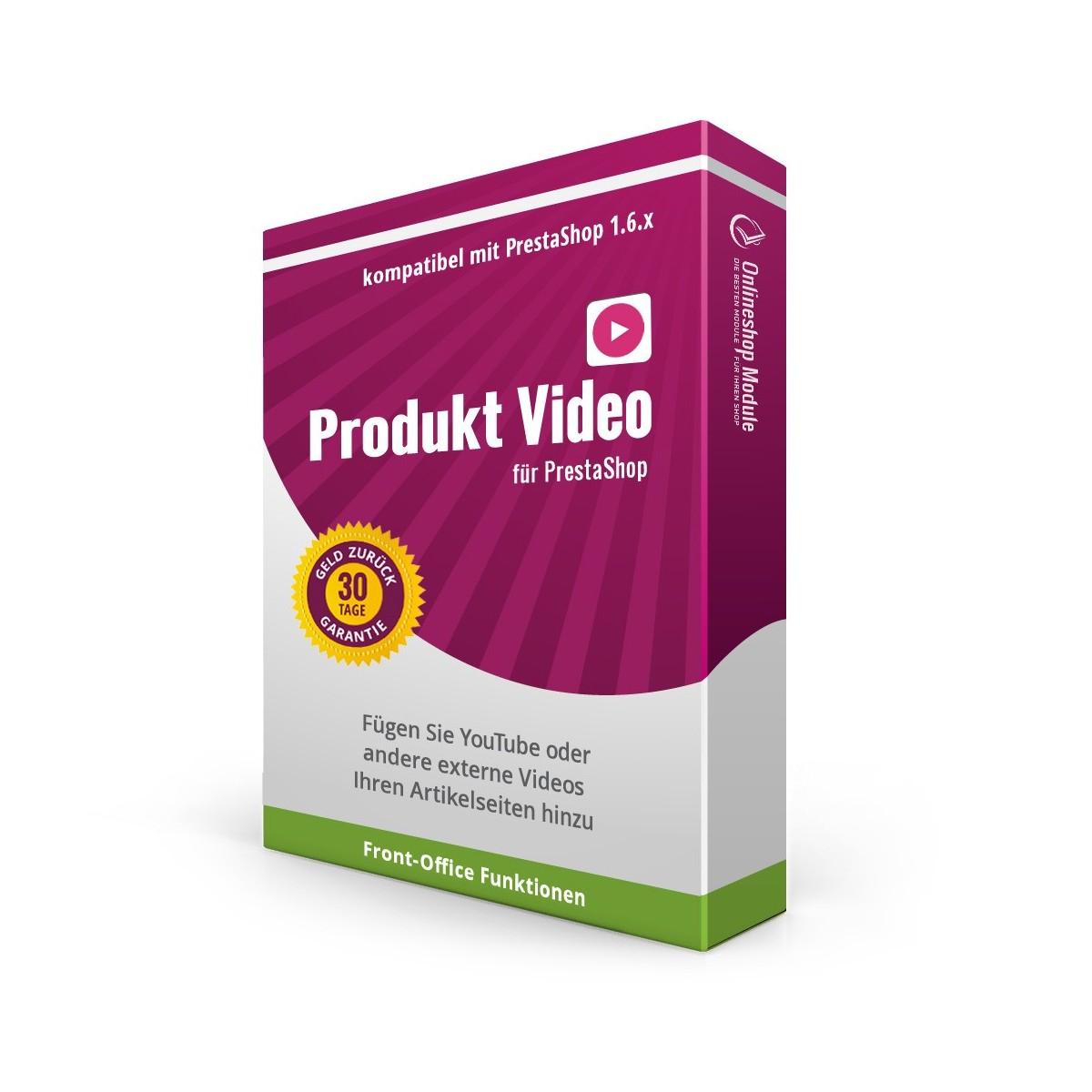 Produkt Video für PrestaShop 1.6, Video Übersicht im Back Office Controller