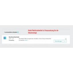 Erweiterte Steuer Modul für PrestaShop 1.7 - Modul Rechtssicherheit als Voraussetzung