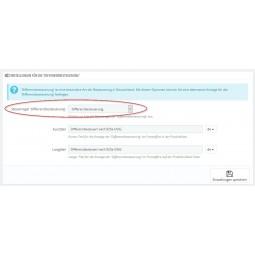 Erweiterte Steuer Modul für PrestaShop 1.7 - Auswahl der Steuerregel für Differenzbesteuerung
