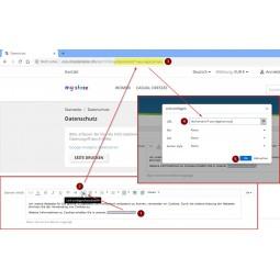 Cookie Richtlinie PS1.7, Datenschutzseite / Datenschutzerklärung im Cookie-Banner verlinken