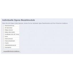 Ogone für PrestaShop, individuelle Zahlmodule installieren