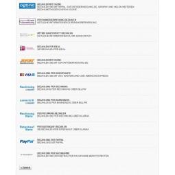 Ogone Kreditkarte, Auswahl der Zahlungsarten im original PrestaShop Front Office