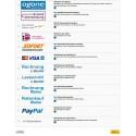 Ogone PrestaShop Module Front Office Zahlvorgang, Auswahl der Zahlungsarten bei GC German