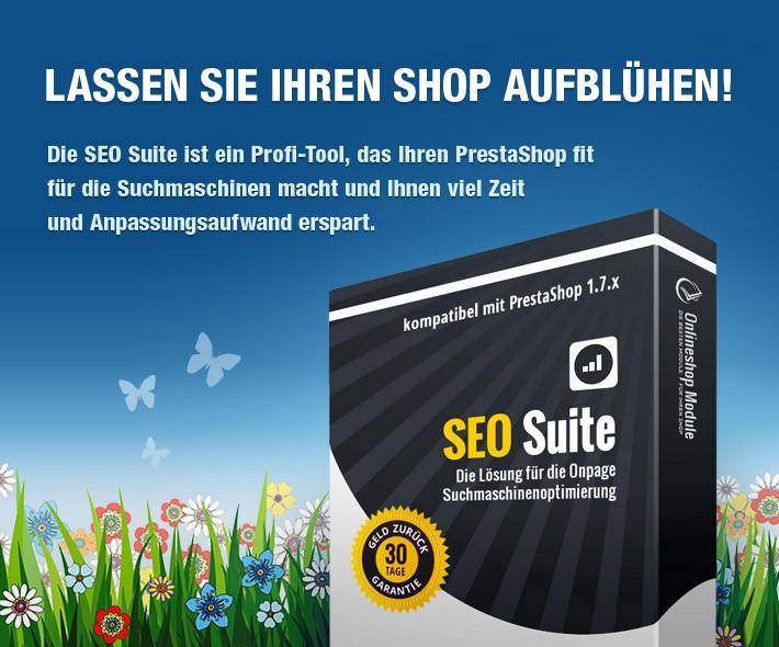 SEO Suite - Kollektion von SEO Modulen zur Onpage Optimierung von PrestaShop